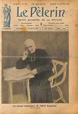 Portrait Abbé Jean-Pierre Rousselot phonéticien dialectologue 1920 ILLUSTRATION