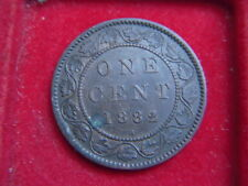 1882H VICTORIAN ONE CENT COIN FROM CANADA