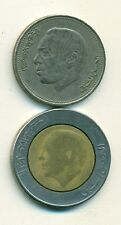 2 DIFFERENT COINS from MOROCCO - 1 DIRHAM & BI-METAL 5 DIRHAM (BOTH DATING 1987)
