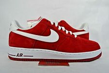 NEW Nike Air Force 1 Low GYM RED WHITE SUEDE 488298-620 sz 6 Men