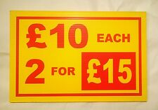 Market Stall Correx Sign Board Double Sided & Waterproof £10  Each 2 For £15