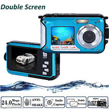 Pro Double Screen Waterproof Camera 24MP 16x Digital Zoom Dive Camera BU