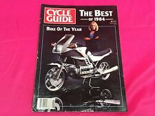 CYCLE GUIDE MOTORCYCLE MAGAZINE AUGUST BEST OF 1984 BMW BIKE OF THE YEAR (Y308)