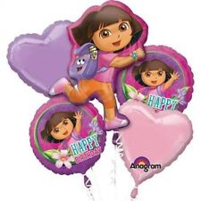 Dora the Explorer Birthday Party Favor Supplies 5CT Foil Balloon Bouquet