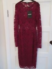 Misguided Oxblood Red Dress - NWT - Size 10