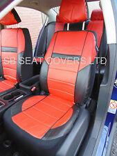 FORD FOCUS / FIESTA CAR SEAT COVERS ROSSINI ROS 0211 RED LEATHERETTE PRESTIGE