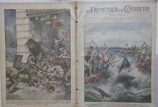 LA DOMENICA DEL CORRIERE 10 ottobre 1926 Pescecane a Frigiano Leoni Circo Calvi