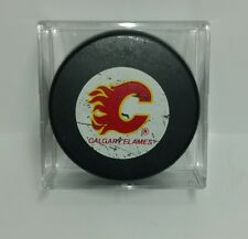 NHL Calgary Flames Hockey Puck Ziegler Official Trench Game Small Logo