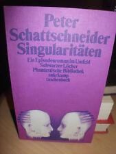 SINGULARITÄTEN von PETER SCHATTSCHNEIDER