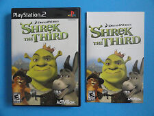 NO GAME- PS2 SHREK THE THIRD - GAME CASE & MANUAL ONLY - NO GAME
