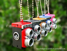 CUTE RETRO TWIN LENS CAMERA LUCKY CHARM KEYCHAIN - WITH FLASH LIGHT