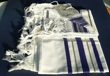 "Jewish Tallit Prayer Shawl Kosher Tallis w/Tzitzit  Sz 35x75"" Men Women Kids #36"