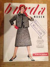 Burda Moden 9 / 1958 mit 2 Schnittbogen Modezeitschrift 50er Jahre