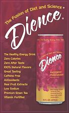 Dience - Healthy Energy Drink - Raspberry Pomegranate 16 oz cans (case of 24)