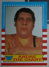Andre The Giant WWF WWE 1987 Topps Card #2 Wrestlemania Classic Legend Superstar