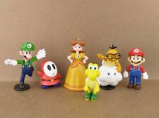 "Lot 6 Super Mario Bros 1-1/2"" ~2-1/2"" Mini Figures Figurine Series 1 Toy"