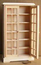 1:12 Natural Finish Wooden Book Cabinet Dolls House Miniature Accessory 126