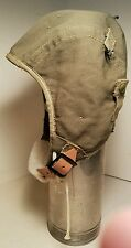 WWII 1942 Army Air Force Type A-9 OD Large Cloth Flying Helmet - USAAF EXCELLENT