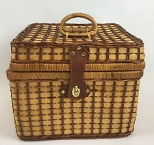 Coca-Cola Wicker Picnic Basket Authorized Product with Accessories