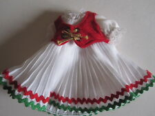 Original Vintage White & red dress for your  Madame Alexander doll 8""