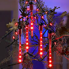 Lightshow Blood Drip Halloween Lights - Bloodicicle Red House Decor Scary Fun