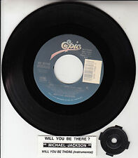 "MICHAEL JACKSON  Will You Be There 7"" 45 rpm record + juke box title strip NEW"