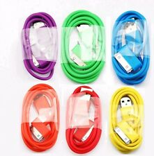 Lots 6  New Color USB Data Sync Cable Charger Cord For i Phone 4 4G 4S 3G TH
