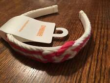 NWT Gymboree Stripes & Anchor Coral Pink & White Braided Rope Style Headband