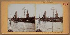 La Rochelle 2 stéréos collées sur le même carton Vintage Citrate ca 1900