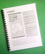COLOR PRINTED Olympus Camera Evolt E-410 E410 Manual User Guide 132 Pages
