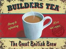 Builders Tea, Great British Brew, Cuppa Mug Kitchen Cafe, Novelty Fridge Magnet