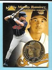 1997 Pinnacle Mint Gold Plate Coin Manny Ramirez Indians