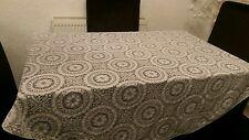 Large vintage lace table cloth round 66 inch diameter