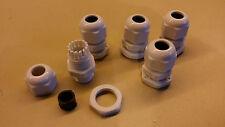 Packung von 5 kabelverschraubung stopfbuchse wasserdicht PG9 für kabel Von 4 mit