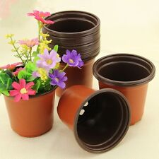 20 Pcs Plastic Pot With Garden Supplies Mini Flowerpot Seeds Starter Nursery Pot