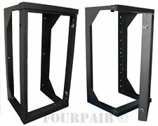 "Wall Mount Swing Out Gate Network IT Steel Cabinet Data Rack - 25U - 25"" Depth"