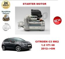 FOR CITROEN C3 MK2 1.0 VTI 68 2012-- ON STARTER MOTOR