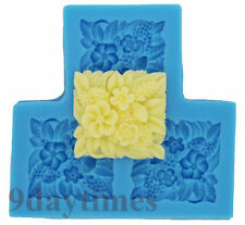 Square Flower Cabochon Food Grade Silicone Mold Mould For Polymer Clay 35mm A076