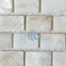 Mother Of Pearl Mosaic Tiles River Bed Nature Pearl Shell MosaicRectangle  White