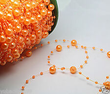 orange bride Party Wedding Decor Garland Acrylic pearl Bead Strand curtain 1yd
