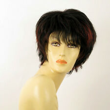 wig for women 100% natural hair black and red wick ref CATE 1b410 PERUK