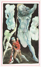1940's Old Vintage Salvador Dali Male Nude Zeus Surrealist Art Print