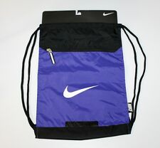 Nike Elite Drawstring Shoe Bag | Unisex | BlackPurple | 15inX14in | Nwts