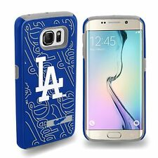 For Samsung Galaxy S6 Edge ONLY Los Angeles Dodgers MLB 2 Piece Dual Hybrid Case
