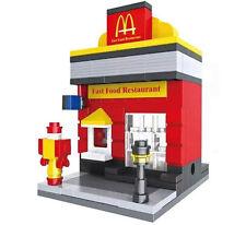fast food restaurant Haus ca. 190 Teile Neu mit Bauanleitung