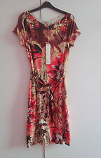 Laura Ashley Women's  Floral Patterned Dress & Fabric Belt (UK12) :£85.00
