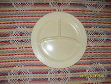 """VINTAGE IVORY  FIESTA  10 1/2"""" DIVIDED / COMPARTMENT PLATE-FIESTAWARE   pp"""