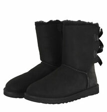 NIB Women's UGG BAILEY BOW Size 7 Black Boots