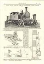 1895 SHARP Stewart Locomotiva sollevamento affrontare ATLANTE Opere delle macchine utensili, rendendo