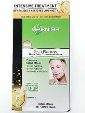 Garnier Skin Renew Dark Spot TREATMENT MASK 6 Masks total 3.84oz 10 min mask